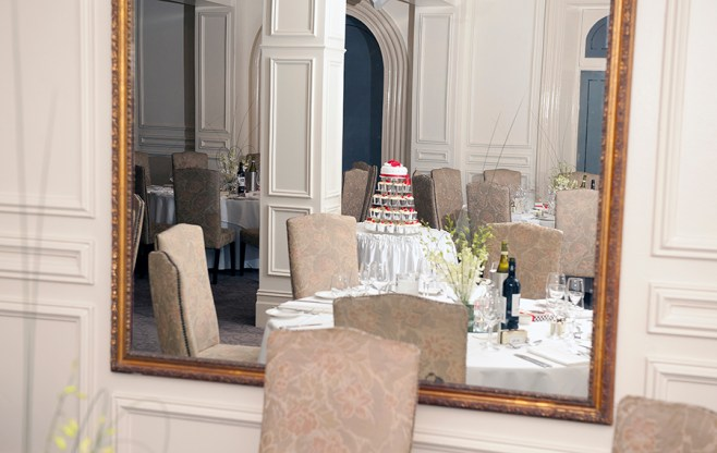 Wedding Cake in Ayres House Mirror