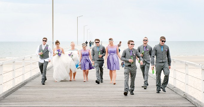 Bridal Party on jetty