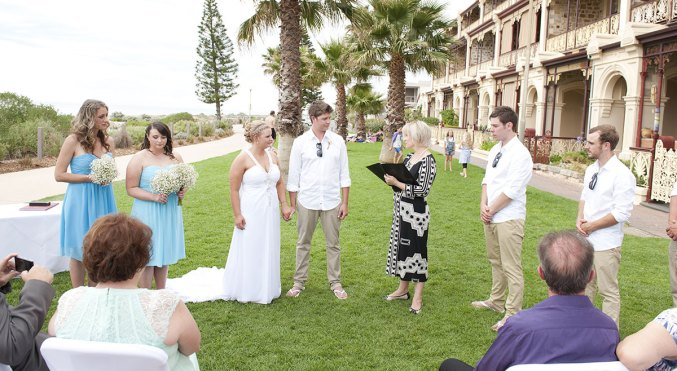 Wedding on Grange Beach