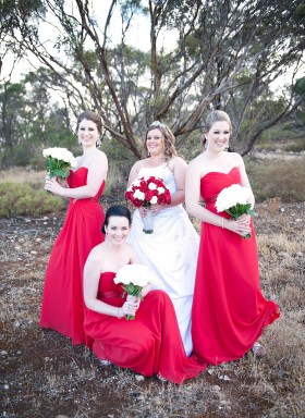 Bridal Party being Charlie's Angels