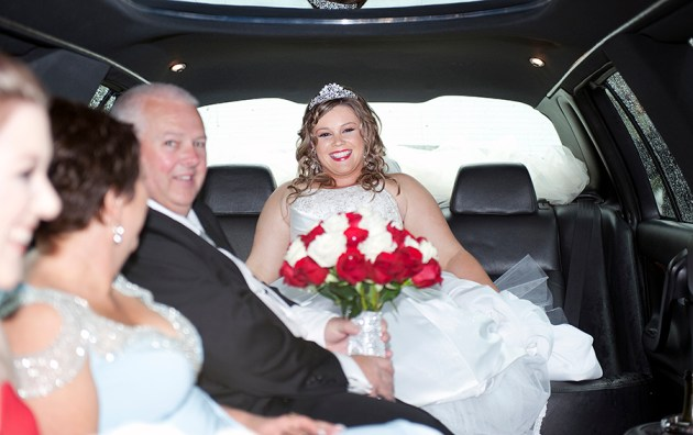 Bride in the Limo