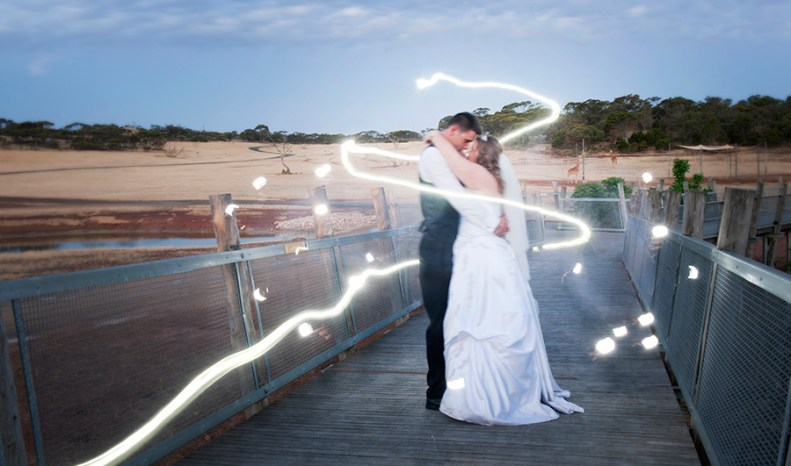 Light Painting at Monarto Zoo