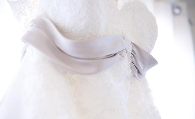 Closeup of Wedding Dress