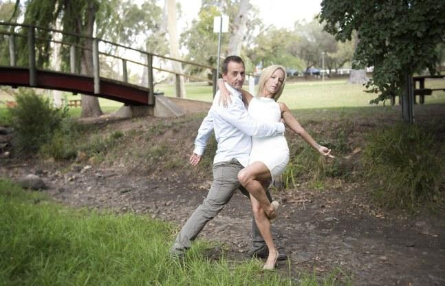 Dancing near the creek