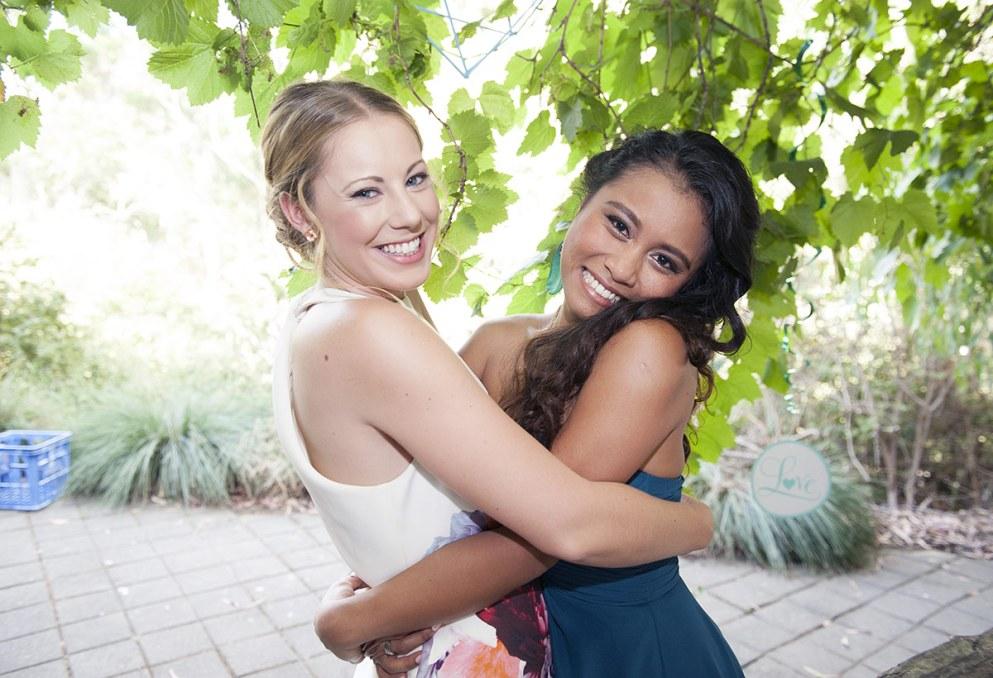 Friends hugs