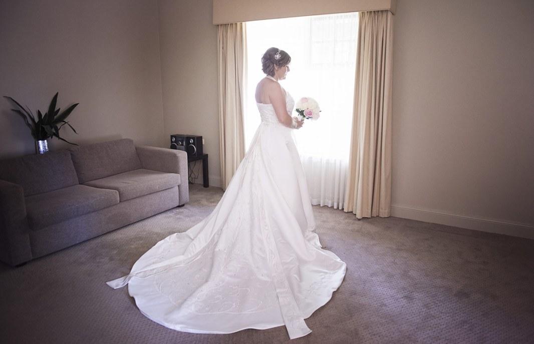 Bride preparation st francis winery wedding