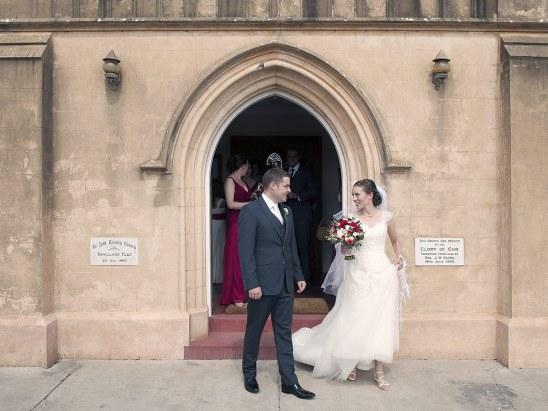 After church wedding