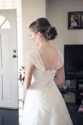 Back of wedding gown