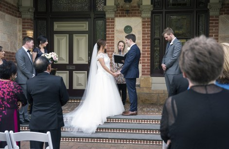 Wedding in front of Carclew House