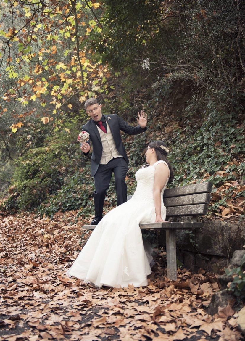Bride suprising groom