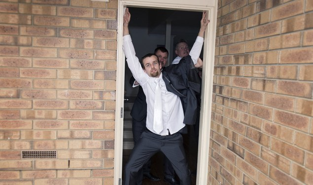 Groom not leaving the house