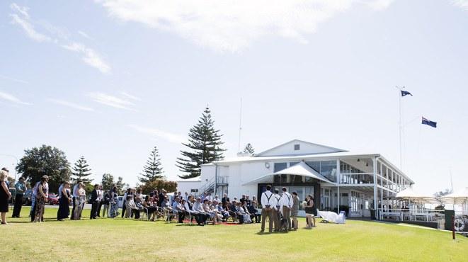 Royal SA Yacht Squadron wedding