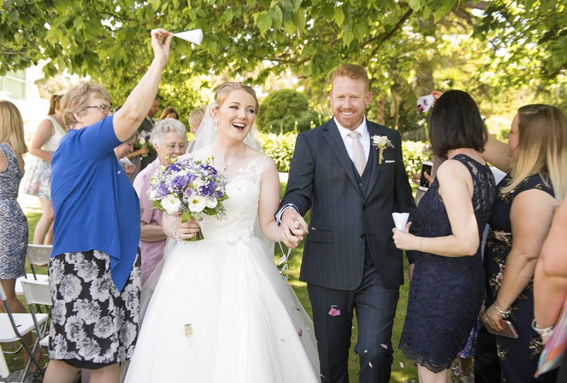 Celebrations after being married