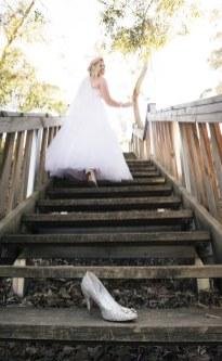 Cinderella bridal shot