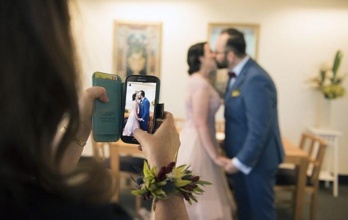 First kiss through phone