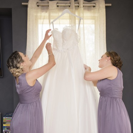 Taking down wedding dress