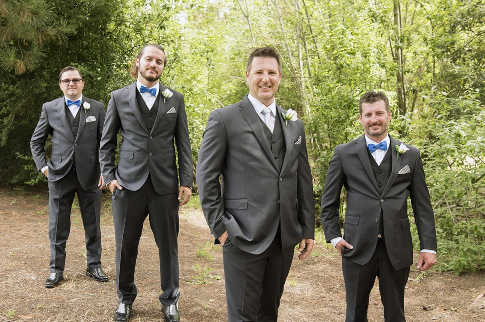 Jeremy and his groomsmen