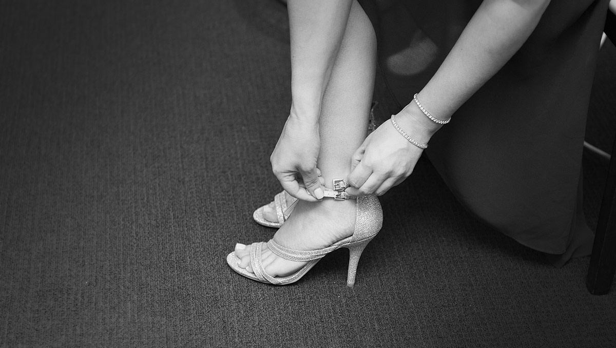Putting on shoes