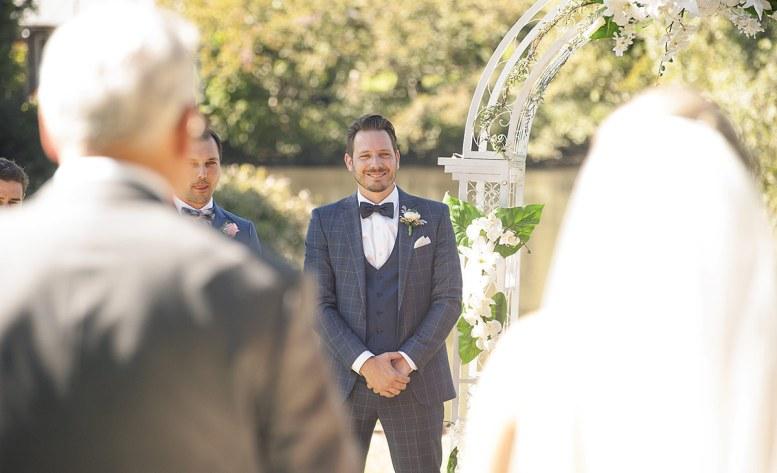 Beaming groom