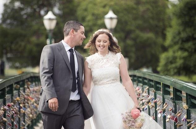 Couple on Torrens footbridge