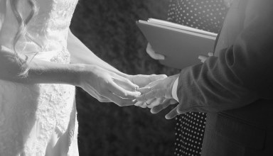 Placing ring on finger