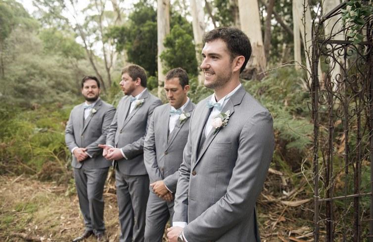 Line of groomsmen