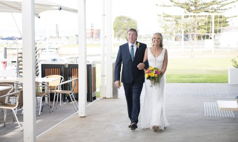 Bride and father