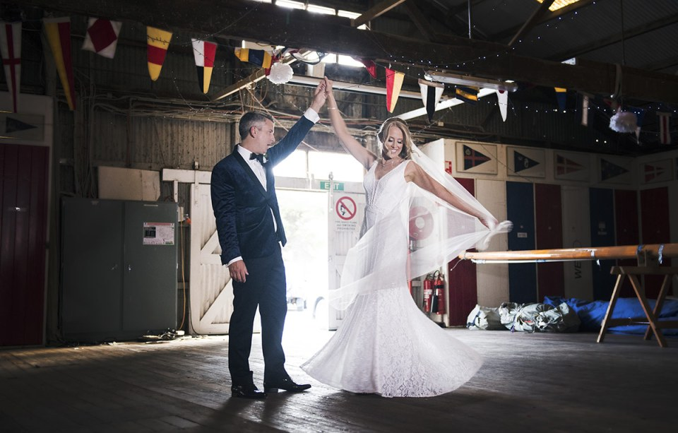 Dancing in the boat house