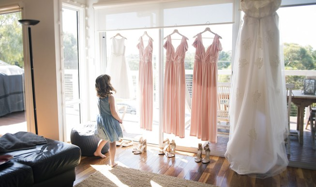 Flower girl and dresses