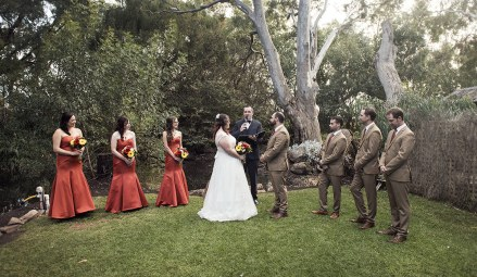 Willunga Peacock Farm wedding ceremony