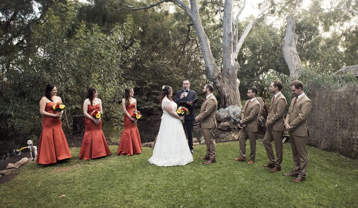 Willunga Peacock Farm wedding ceremony