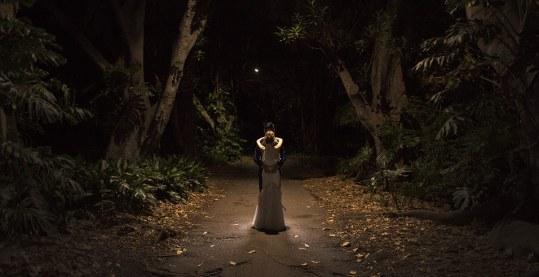 Light Painting wedding photo
