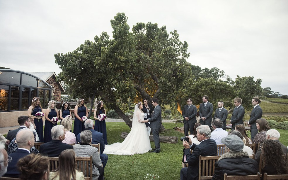 Coriole Wedding ceremony