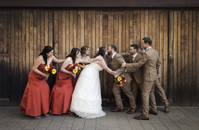 Bridal party ripping bride and groom apart