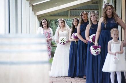 Bride looking anxious