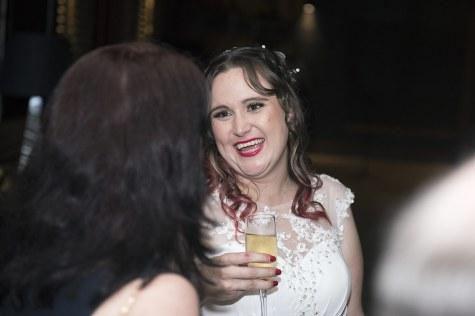 Chatting bride