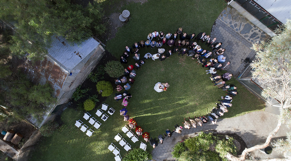 Drone group photo