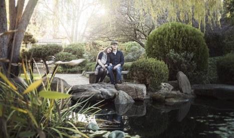 Sitting in Himeji Gardens