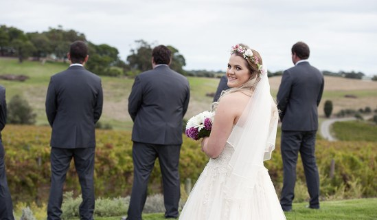 Sneaking up on the groom