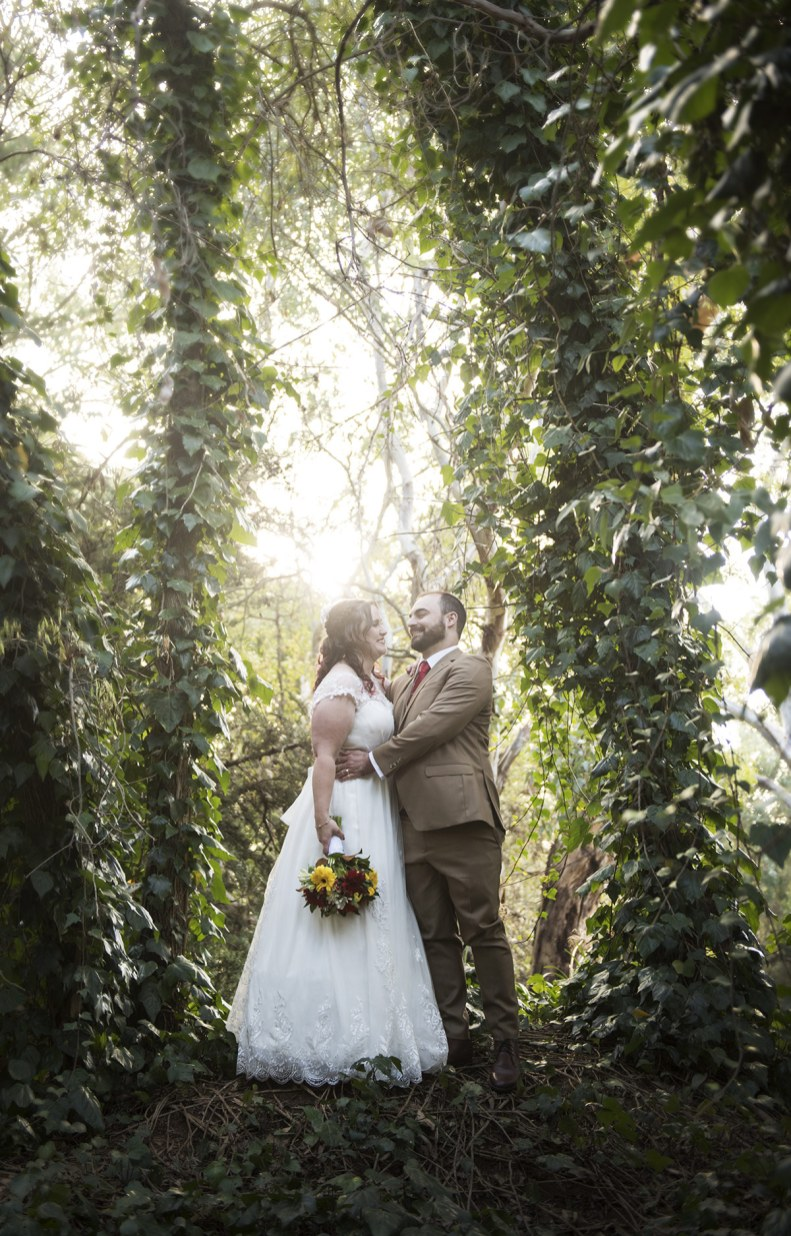 Wedding photography in the gardens