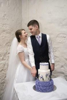 Cutting Wedding Cake