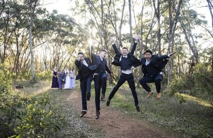 Jumping boys