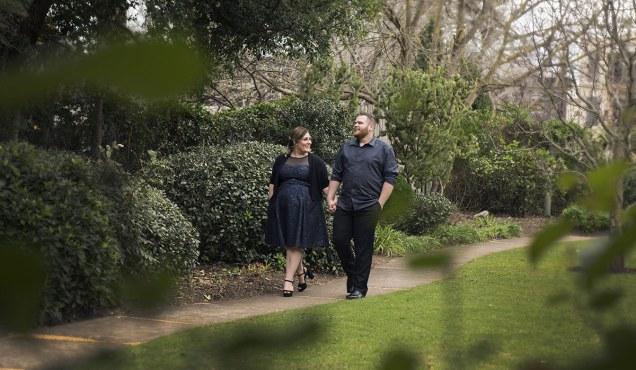 Walking through the gardens