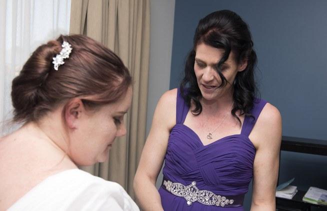 Smiling bridesmaid