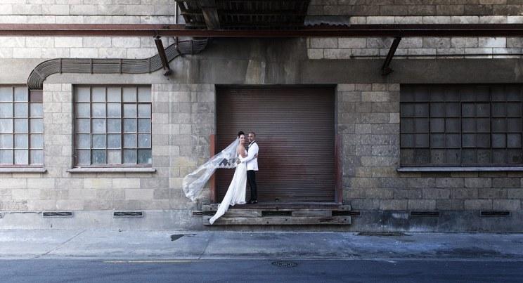 Woolshed wedding photo