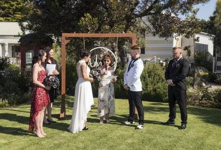 Middleton Beach Huts Wedding