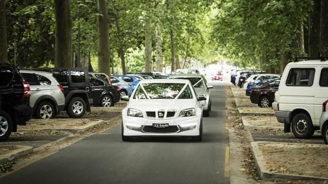 Bridal motorcade