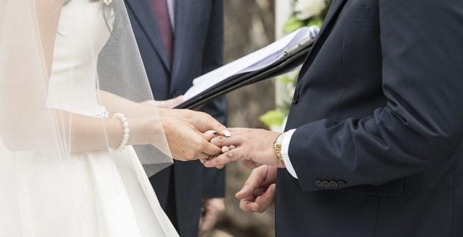 Exchanging wedding rings