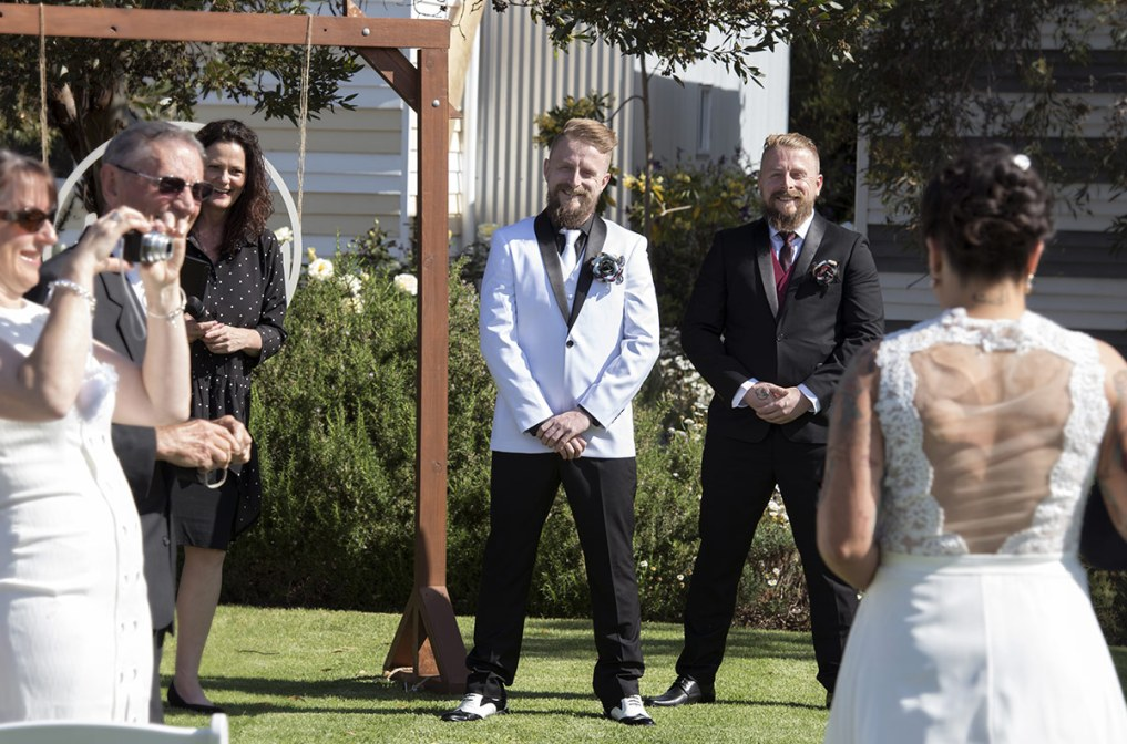 Grooms first look