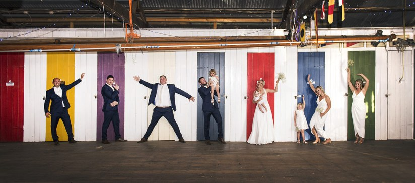 Bridal Party In the Boathouse